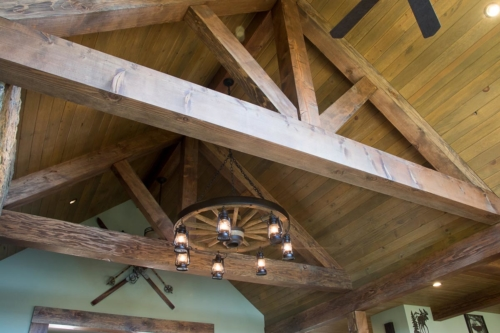 Great Room Timber Trusses