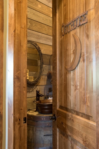 The Outhouse, also known as the Powder Room