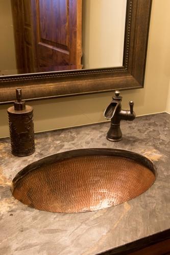 Guest Bathroom Copper Sink