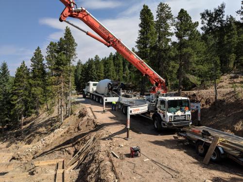 Pump Truck and Concrete Truck