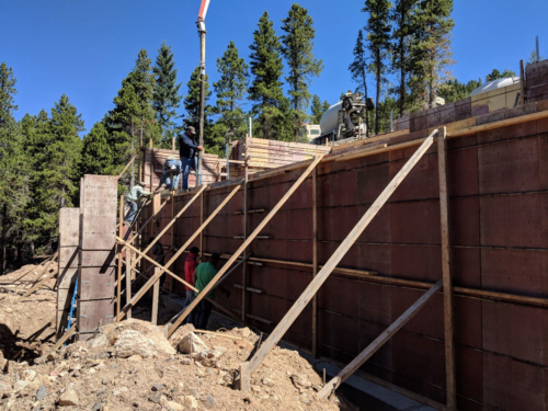 Pouring basement walls