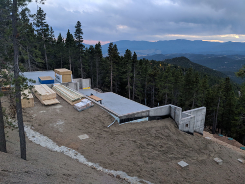 Lumber delivery for lower level framing
