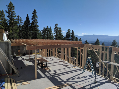Floor joists and support beams