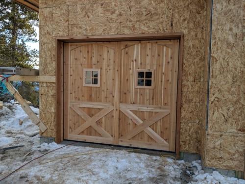 Custom Designed One Car Cedar Garage Door