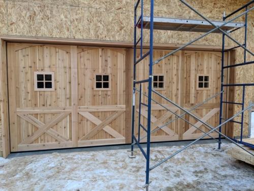 Custom Designed Two Car Cedar Garage Door