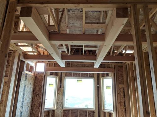 Master Bedroom Ceiling Timber Grid