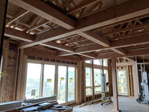 Kitchen and Dining Ceiling Timber Grid