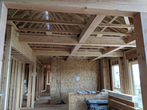 Kitchen and Dining Room Ceiling Timber Grid