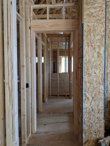 Timber Doorway in the Hall