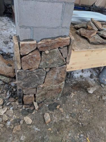 Front Porch Stone Column