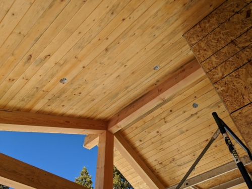 Covered Deck Tongue & Groove Soffit