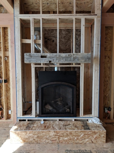 Great Room Fireplace with Mantel