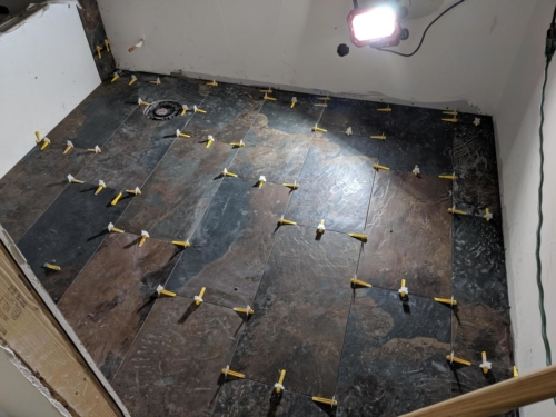 Guest Bathroom Floor Tile
