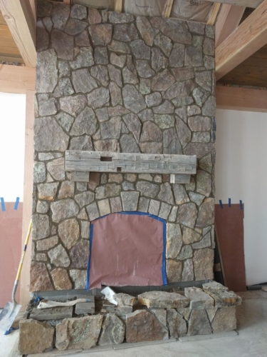 Great Room Fireplace Stone