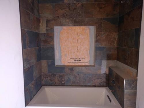 Guest Bathroom Tub Surround Tile