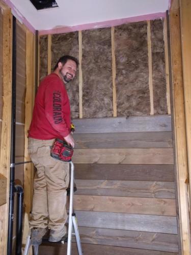 Powder Room Barnwood DIY Installation