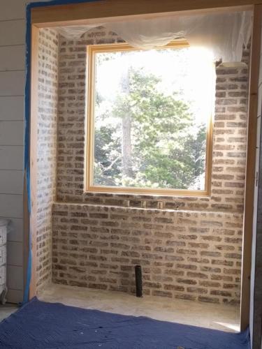 Master Bathroom Brick