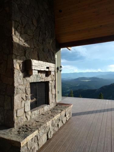 TimberTech Decking and Outdoor Fireplace