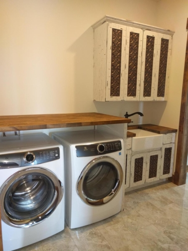 Laundry Room with Electrolux Washer and Dryer