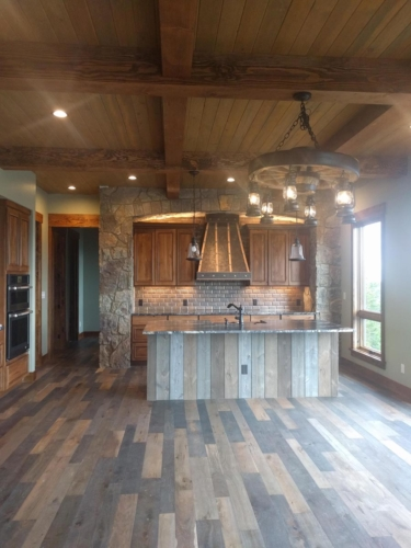 Dining & Kitchen with Lighting and DIY Vent Hood Cover