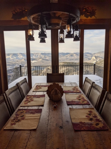 Thanksgiving View from the Dining Table