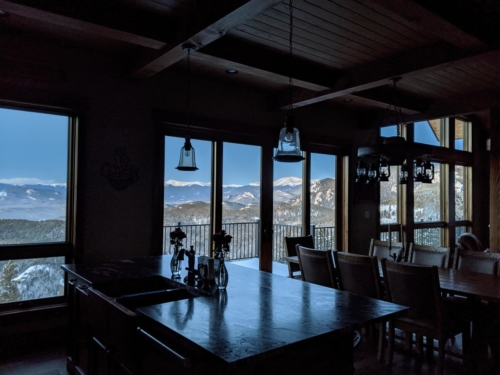 Mountain View from the Kitchen Island