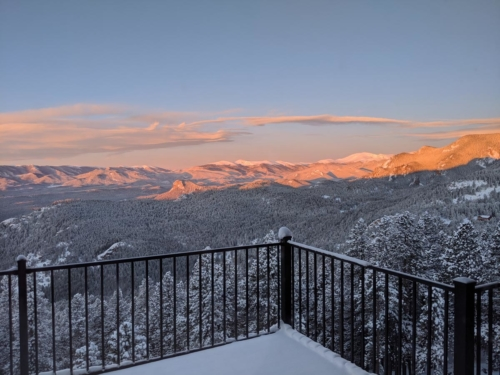 Winter Sunrise from the Dining Room Deck