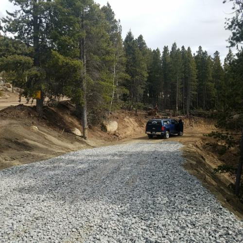 Rough driveway complete